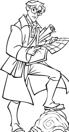 素描铅笔画读书人物图片