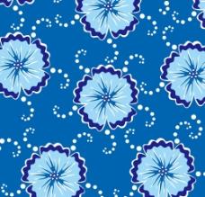 天蓝色古典花纹背景矢图片