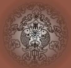 古典欧式花纹背景矢量素材图片