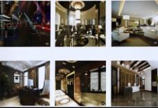 室内客厅多角度效果图