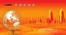 红色科技背景图片