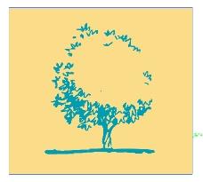 简笔画树背景广告设计素材ai源文件下载
