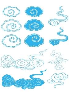 美丽蓝色天云底纹图片