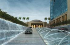 商业区喷泉景观设计图片