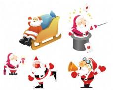 雪橇 圣诞老人矢量素材