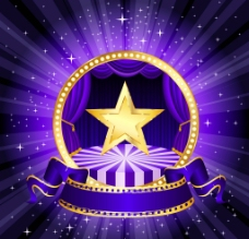 舞台星星背景图片