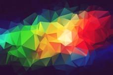 七彩虹色菱形背景图大格式素材