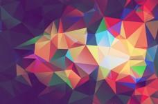 彩色菱形背景图大格式素材