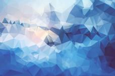 天空蓝色菱形背景图大格式素材