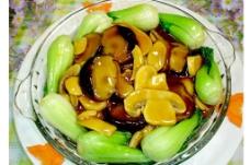 蚝油双菇扒菜胆图片