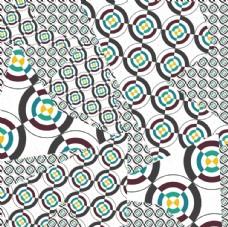 抽象风格几何印花图形