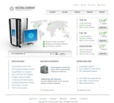公司類模板 web界面設計圖片