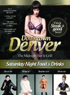 个性美女之夜简约设计广告图片