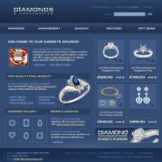 婚戒定制網站設計模板圖片