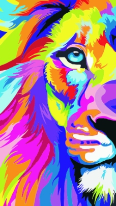 彩色狮子头标志_第2页_乐乐简笔画