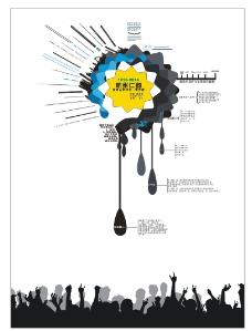创意滴水墨海报
