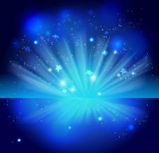 蓝色光效背景图片