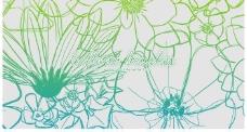 手绘线描花朵笔刷