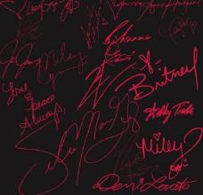 漂亮的手绘签名字体设计笔刷
