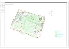 上海某公园环境绿化cad图纸