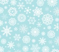 白色雪花绿底背景矢量素材图片