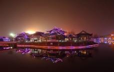 山东德州董子文化街夜景图片