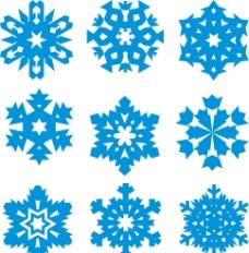 矢量蓝色 雪花图片