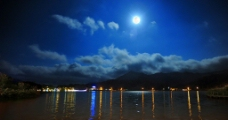海南尖峰岭夜景图片