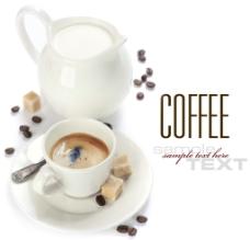 牛奶 咖啡 方糖图片