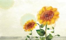鼠绘花朵图片