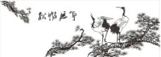 松鹤延年图片