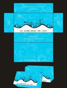 蓝色包装图片