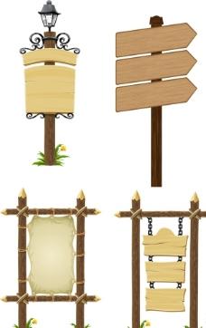 矢量 木牌 路标图片