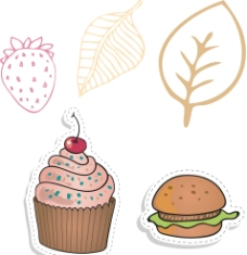 蛋糕 汉堡图片