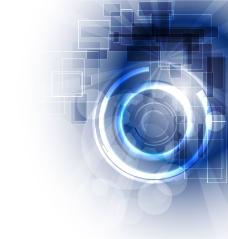 蓝色科技信息光环背景