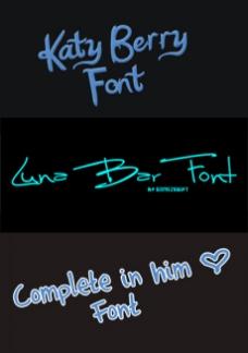 可爱英文手写字体