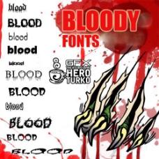 流血英文字体