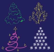 手绘卡通圣诞树图片