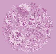 花鸟花纹图片