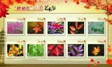 红枫艺术节展板图片