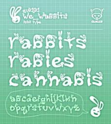 可爱兔宝宝英文体