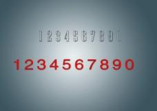 透明分层水晶字
