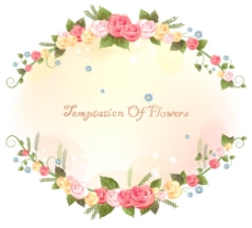 鲜花边框温馨背景