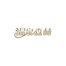 温泉森林字体设计