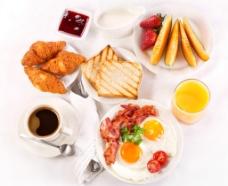 西式爱心早餐图片