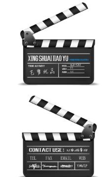 电影拍摄工具打板器 ai矢量图图片