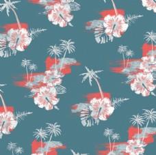 夏威夷T桖印花夏装布匹转印图案