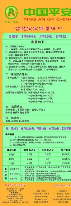 中国平安X展架图片