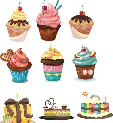 矢量蛋糕 甜点图片