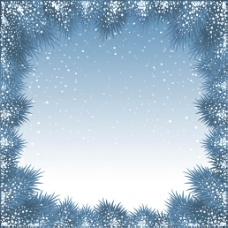 冬季下雪边框背景